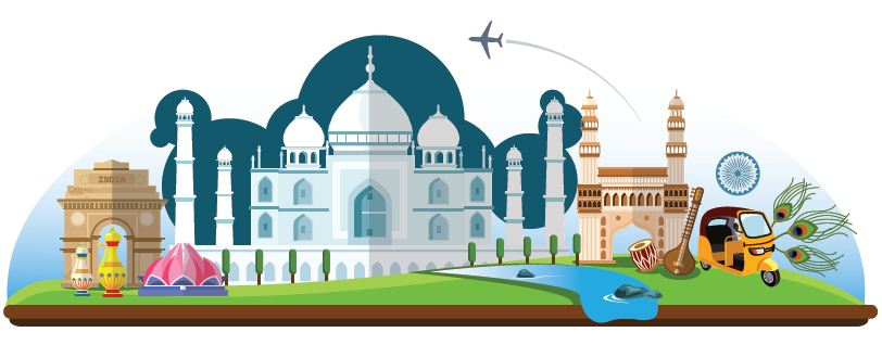 Tourist Attractions in India Clipart | Shubh Yatra Magazine