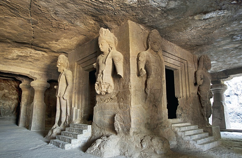 Sculptures in Elephanta Caves