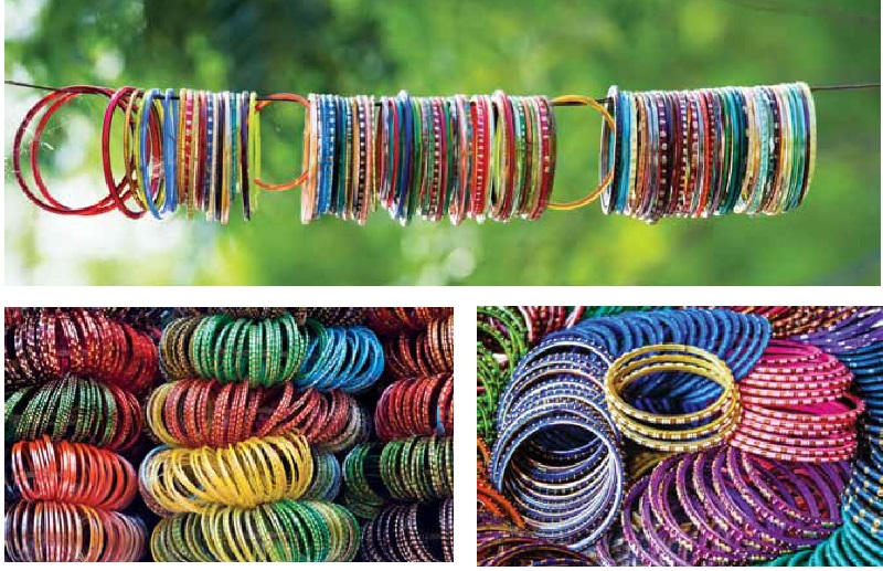 colourful glass bangles